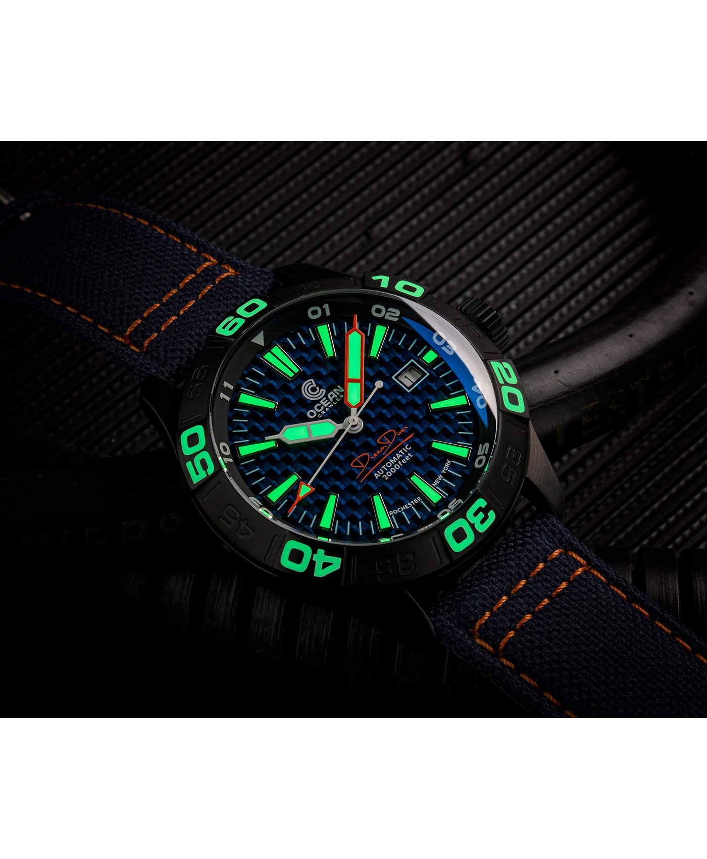 WB Ocean Crawler Dream Diver Blue Carbon Fiber DLC lume