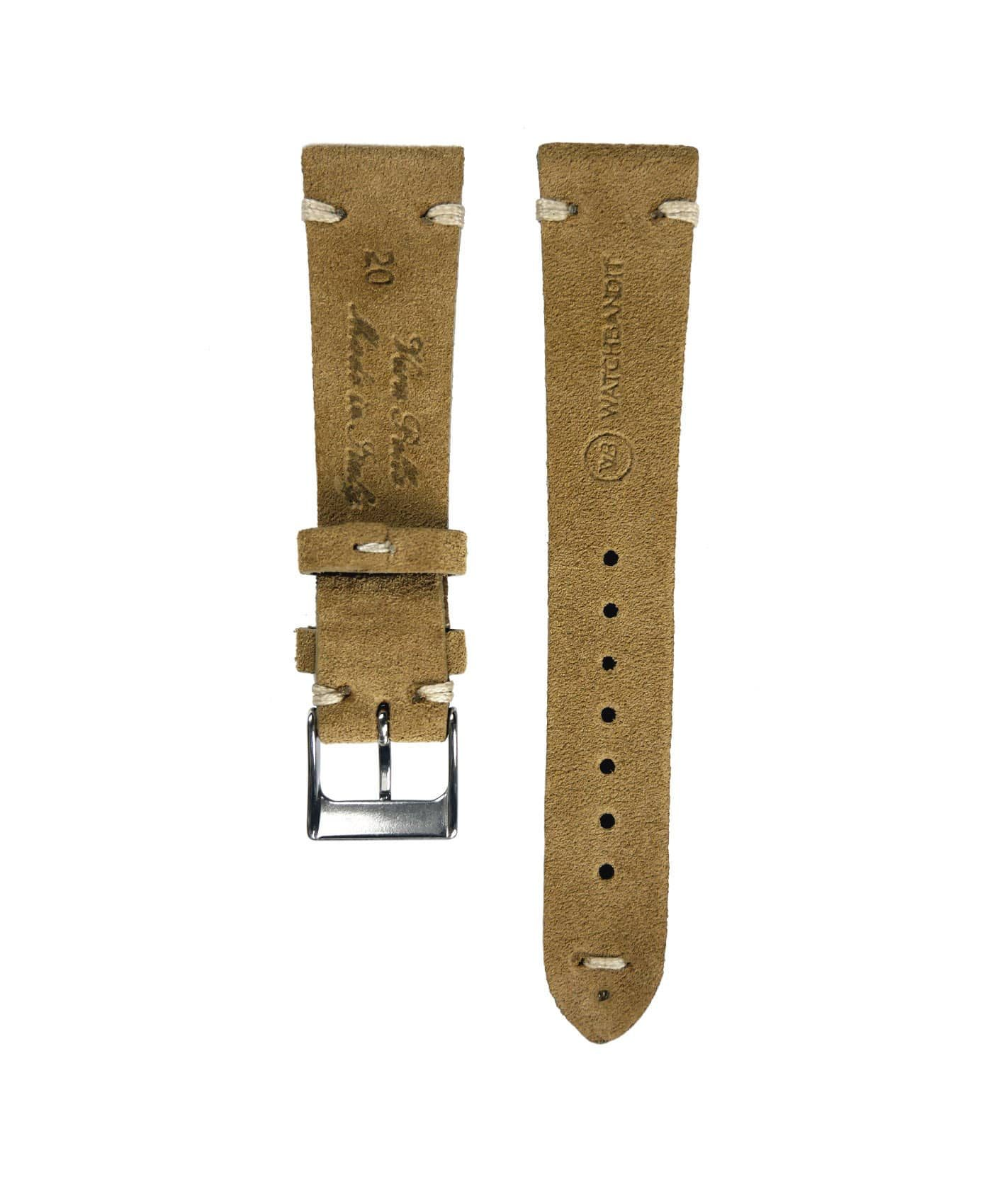 WB original premium suede watch strap beige back