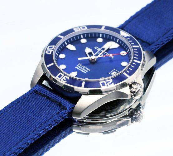 Certina Watch Blue on blue two piece NATO by Watchbandit by achickenwristsdelight