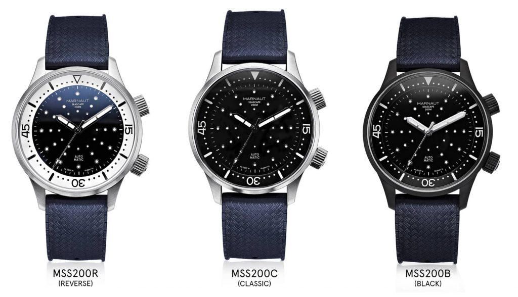 Marnaut Seascape 200m watch models
