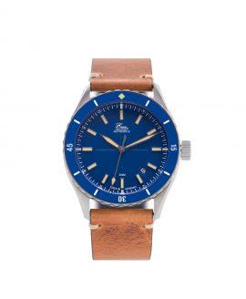 WB Eza Sealande blue – Blue – Classic Cognac -front