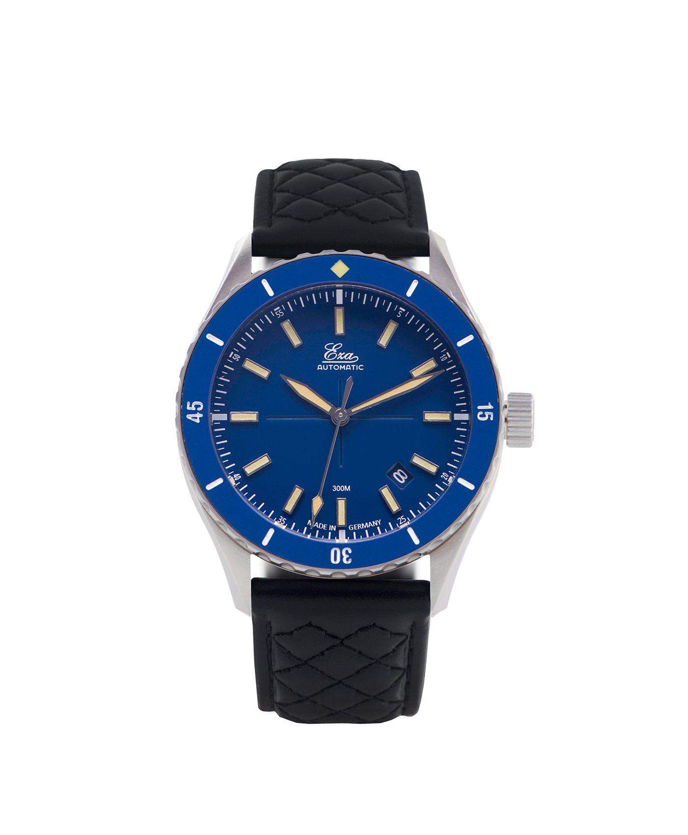 WB Eza Sealande blue – Blue –Diamond Quilted Black -front