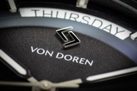 Von Doren URAED day date complication close up
