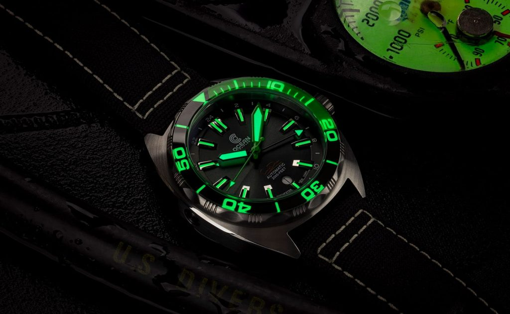 Ocean Crawler Core Diver GMT green lume
