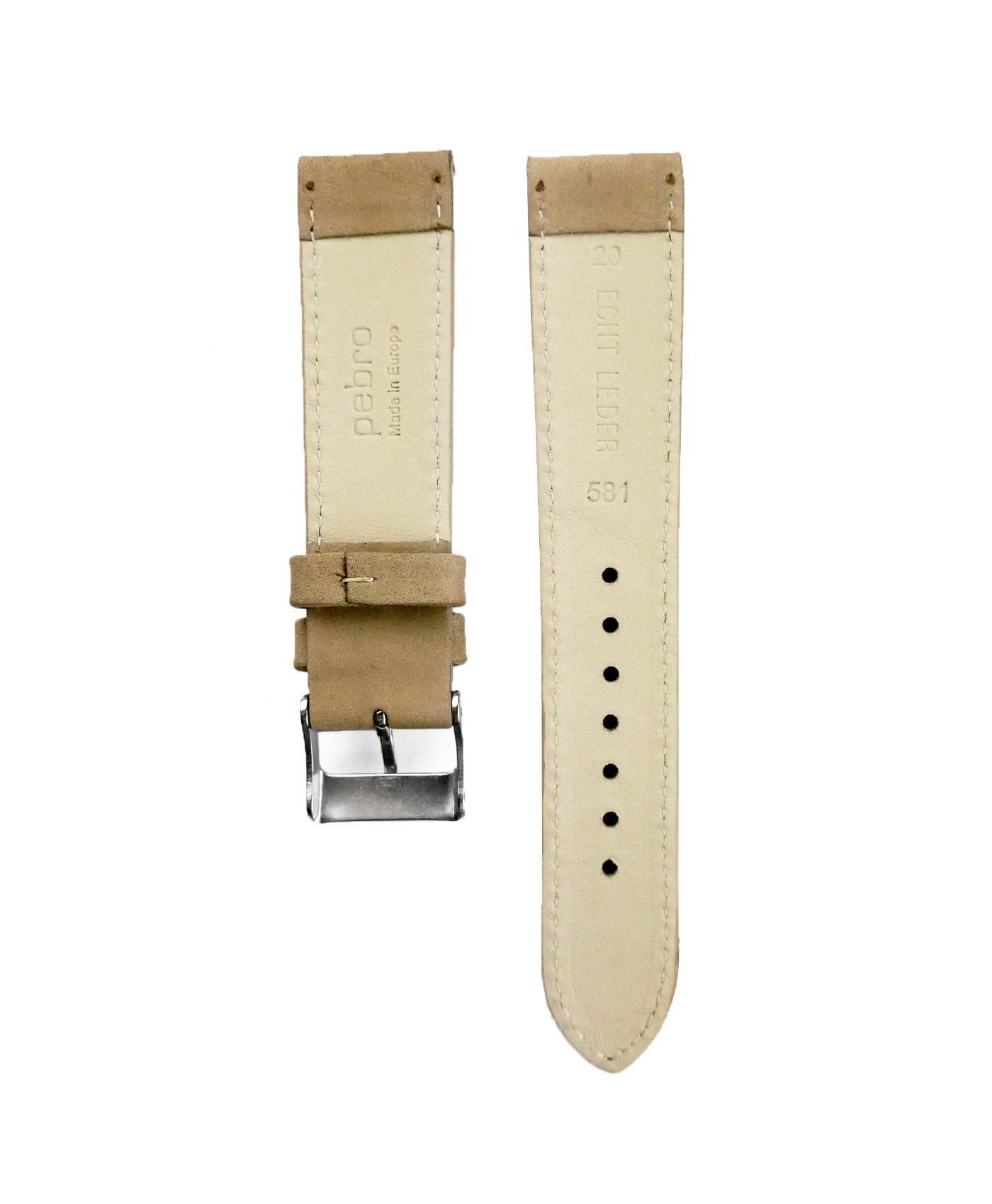 Pebro Premium Calfskin Watch Strap Sand/Beige No 581 back