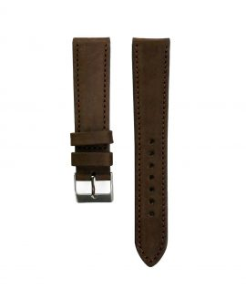 Pebro Premium Calfskin Watch Strap Coffee/Dark Brown No 579
