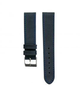 Pebro Premium Calfskin Watch Strap Blue No 189