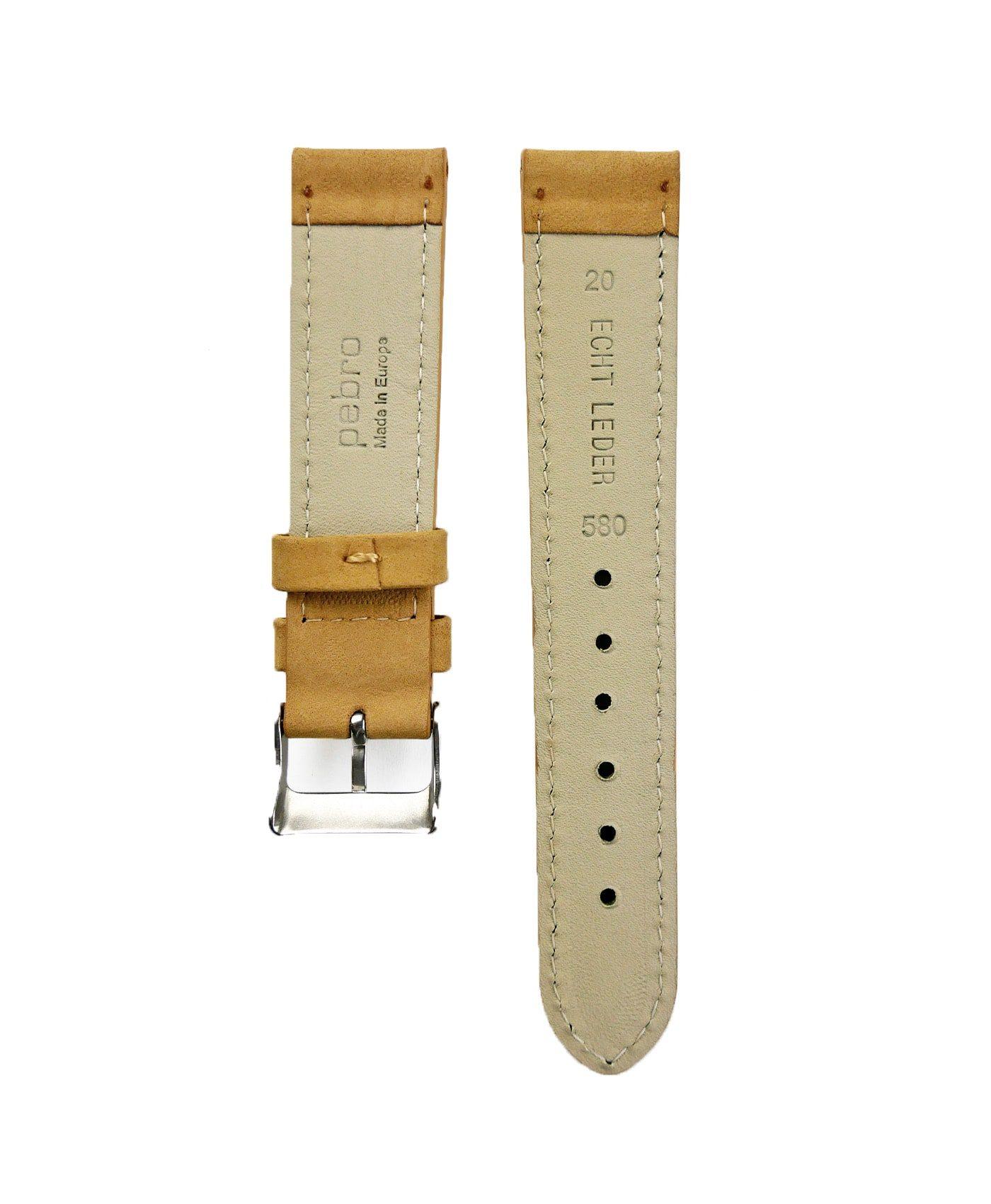 Pebro Premium Calfskin Watch Strap Mustard Beige No 580 back
