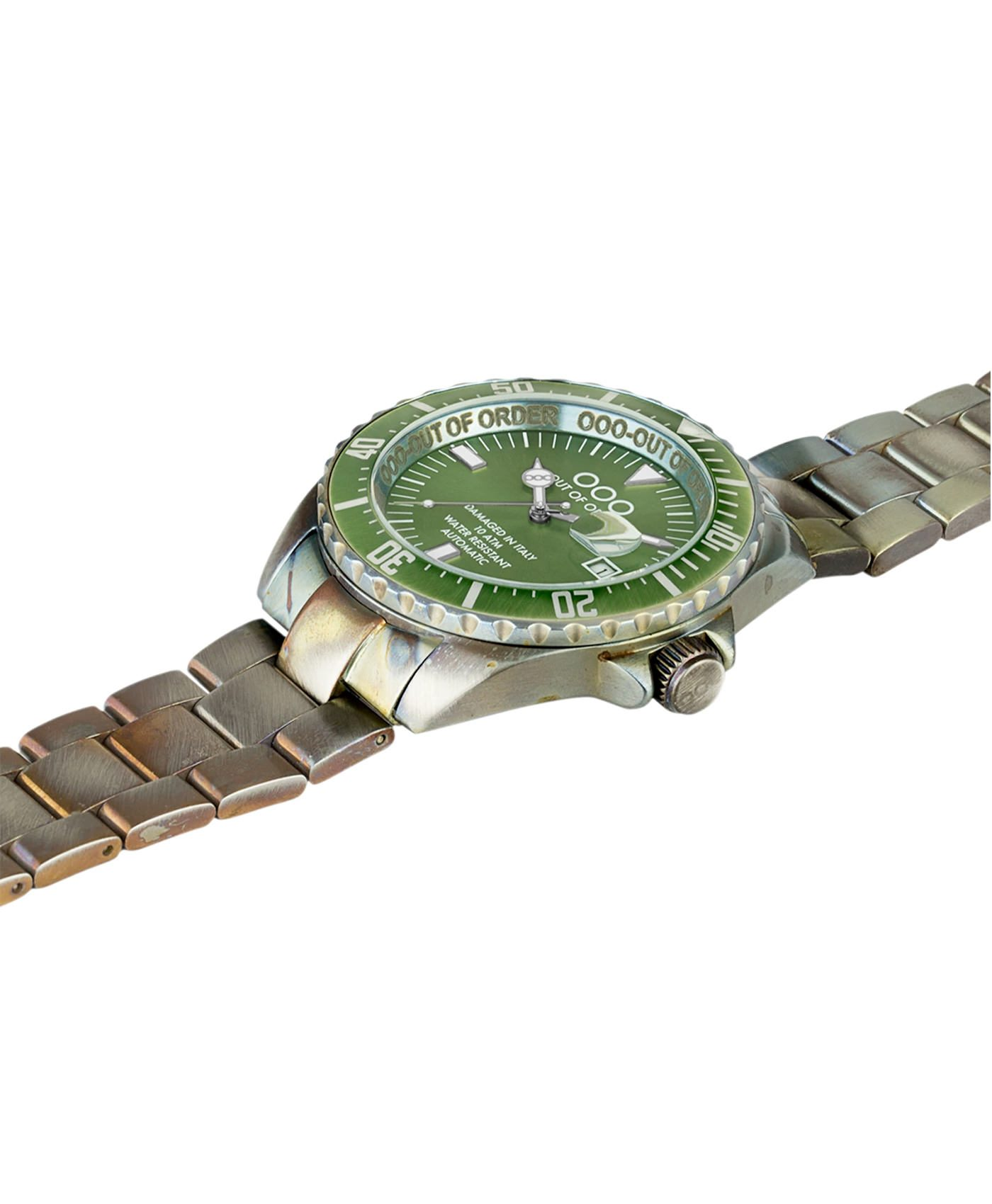 WB Watch Out Of Order Automatico green side