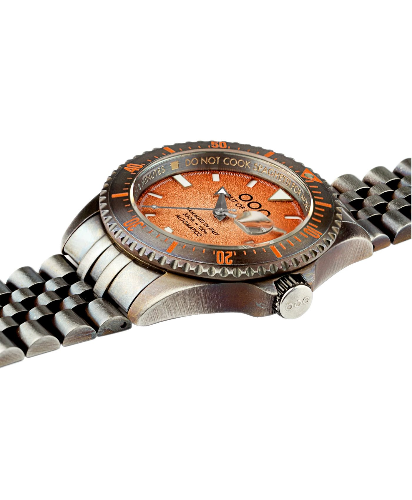 WB Watch Out Of Order Orange Swiss Automatico side