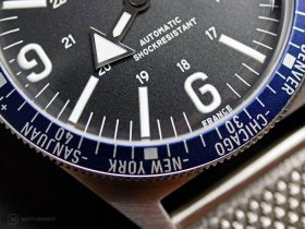 Wolbrook WT Automatic Blue dial macro
