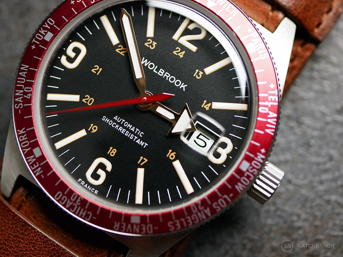 Wolbrok Skindiver WT Professional Red date window cyclops