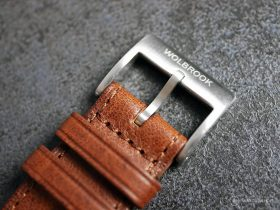 Wolbrook Skindiver WT Automatic leather strap buckle