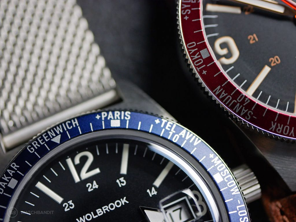Wolbrook Skindiver WT Automatic Red Blue