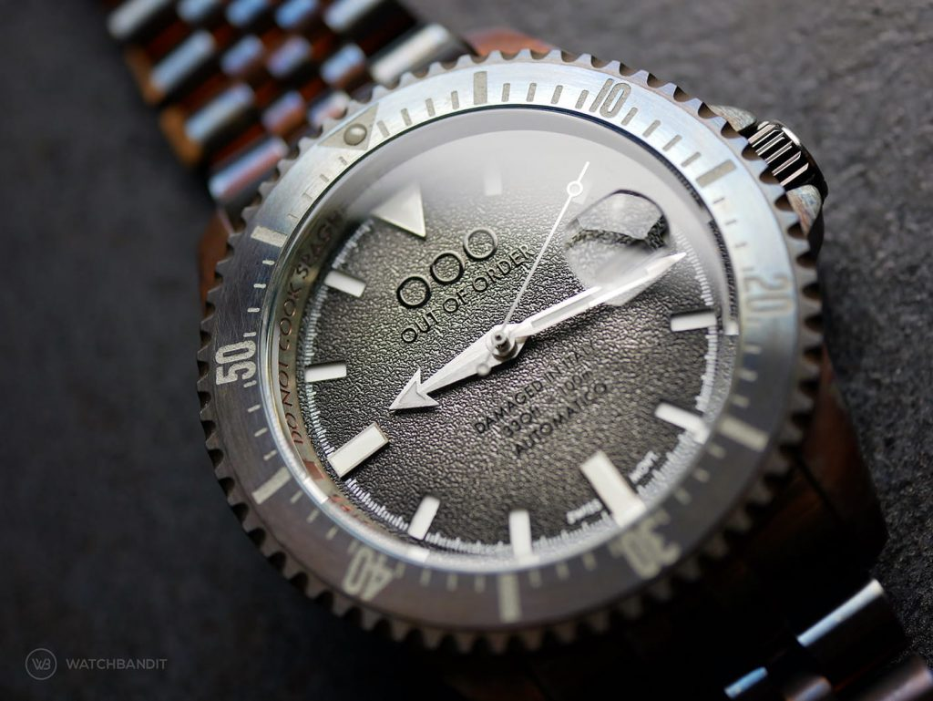 OOO Out Of Order Swiss Automatico dial
