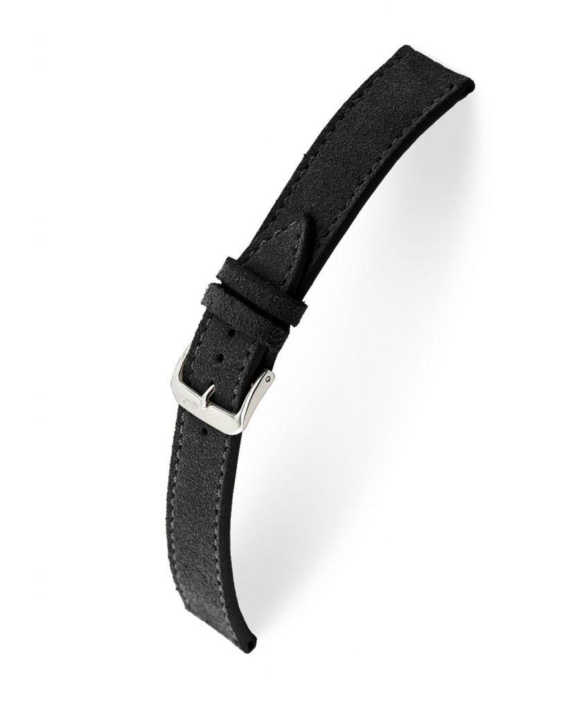 RIOS1931 Franklin Suede Watch Strap Black 15213 Watchbandit