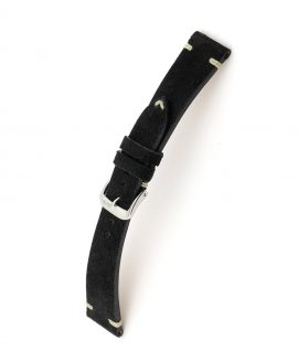RIOS1931 Hudson Suede Watch Strap Black 15513 watchbandit