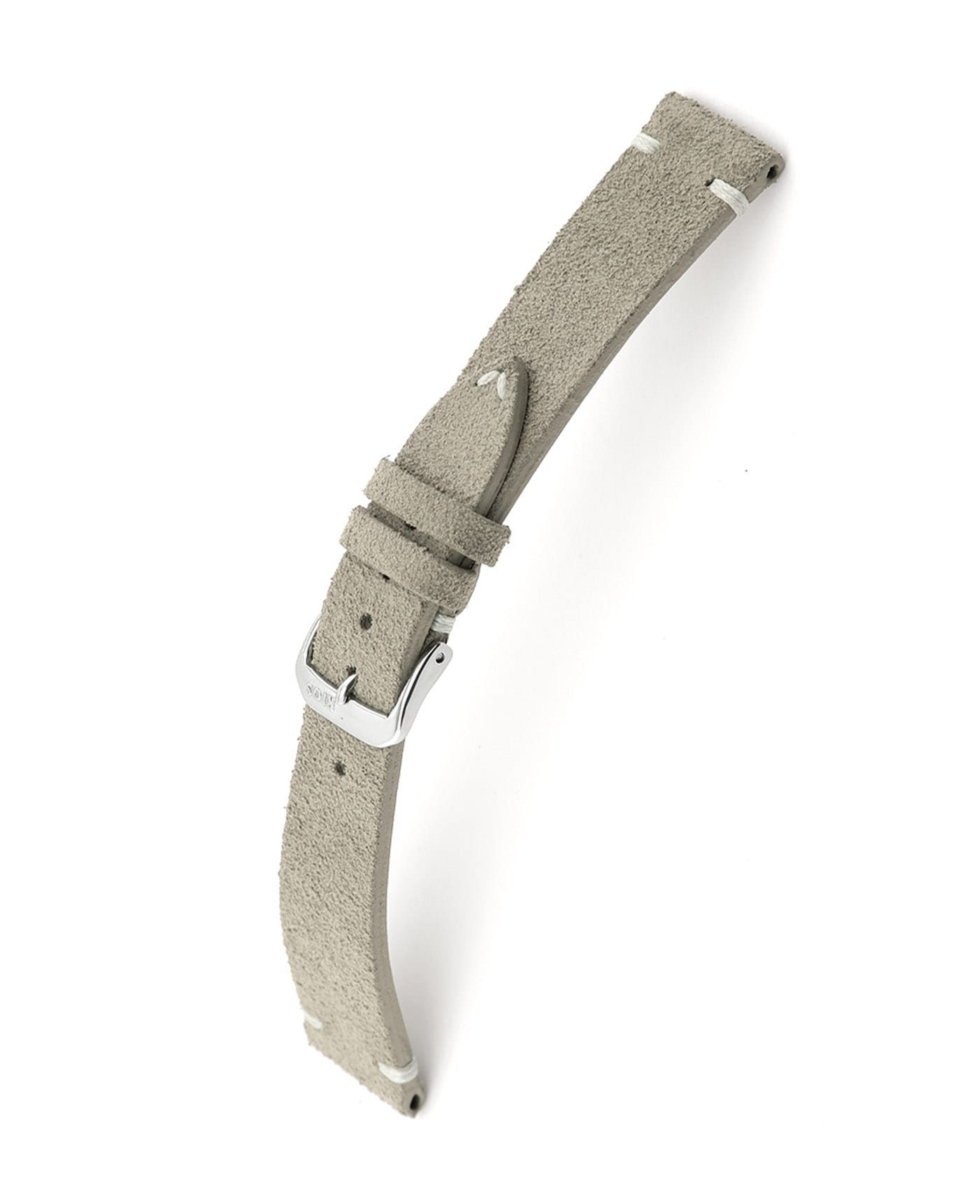 RIOS1931 Hudson Suede Watch Strap Grey 15503 watchbandit