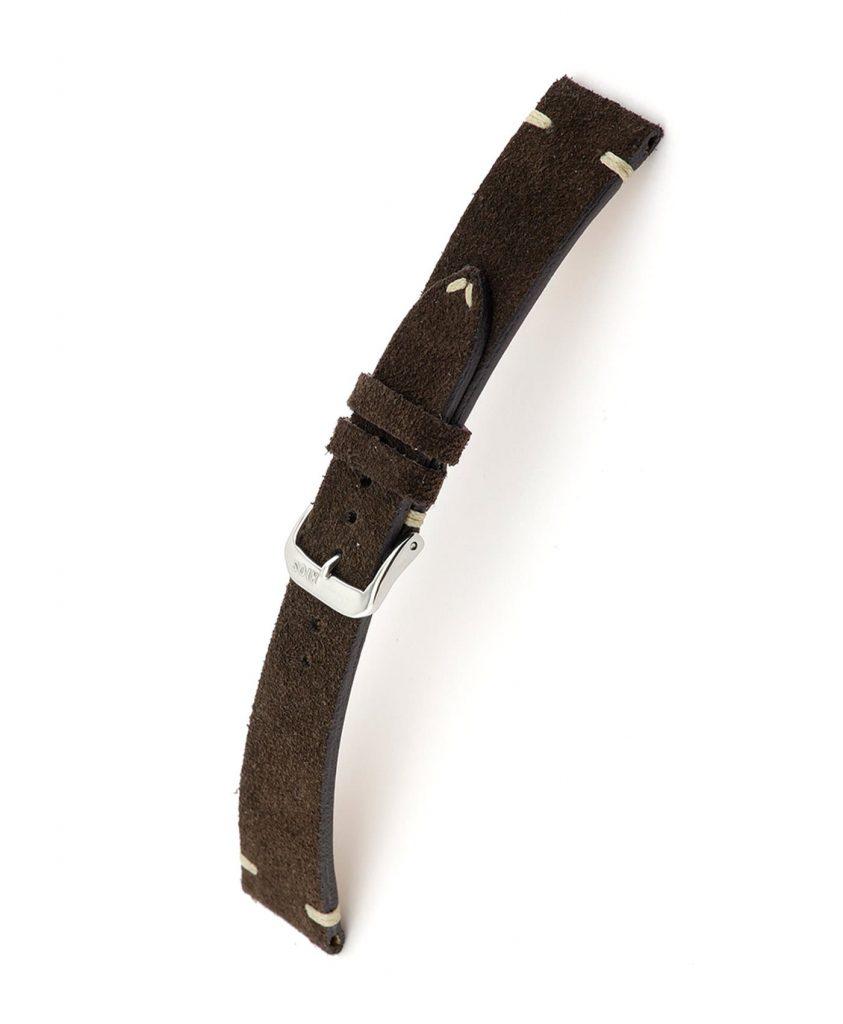 RIOS1931 Hudson Suede Watch Strap Mocha 15507 watchbandit