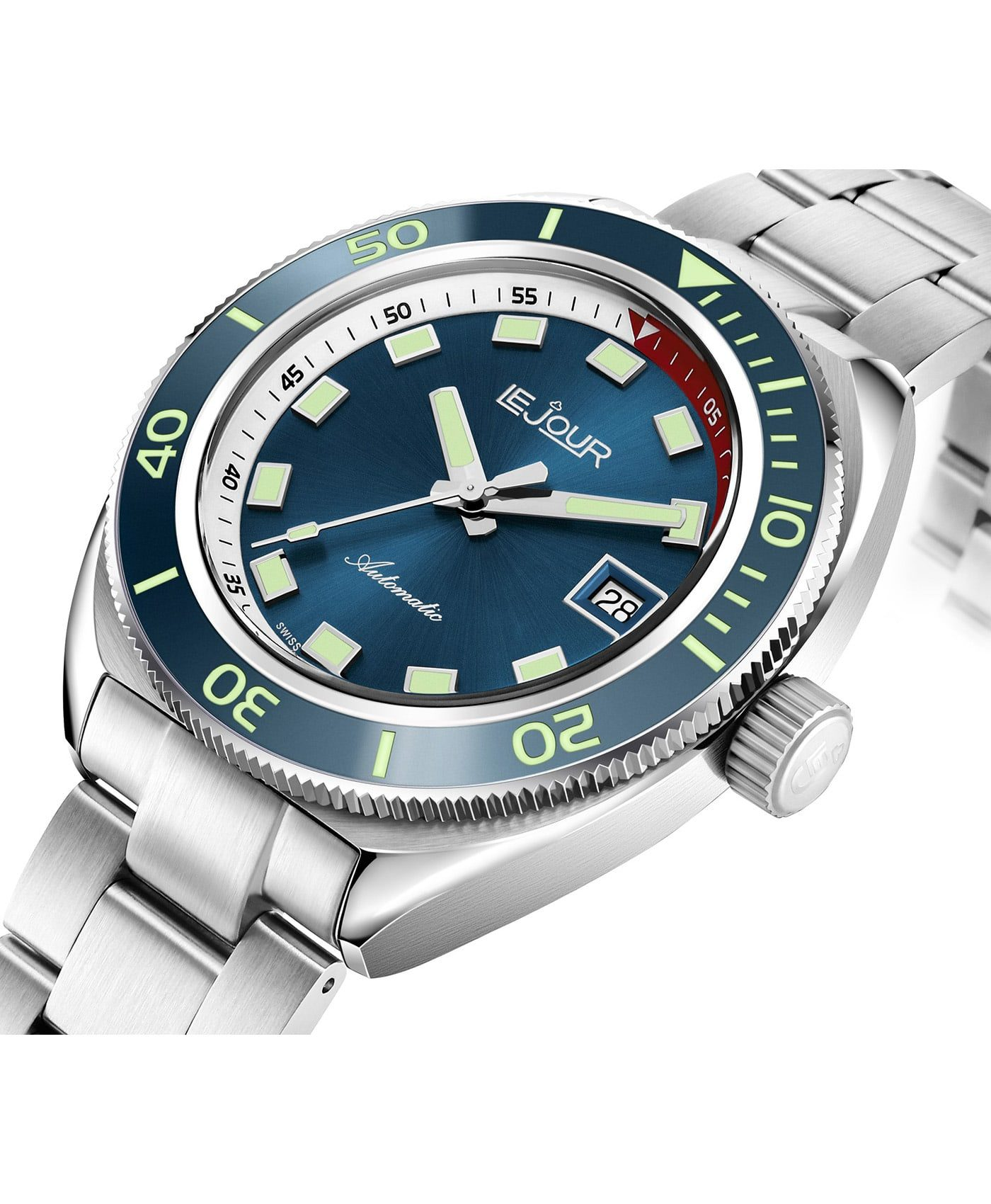 LeJour Hammerhead dive watch HH-0012side case