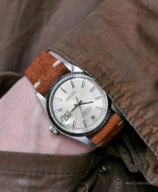 Rolex Datejust 36 on Cognac Suede strap by RIOS1931