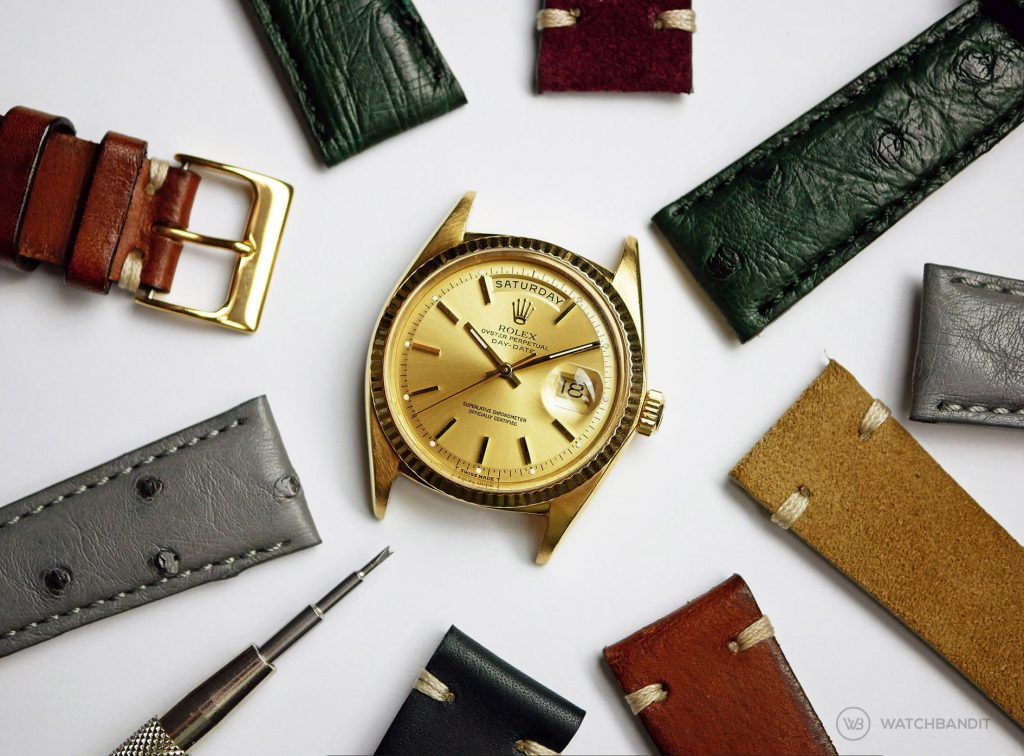 Vintage Suede Ostrich leather strap for Rolex Day Date cover picture