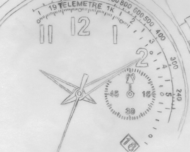 William L. 1985  watches sketch