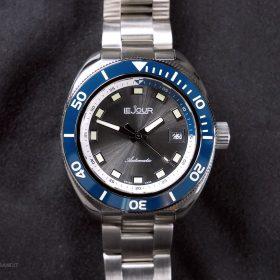 LeJour Hammerhead LJ-HH-003 grey dial blue bezel