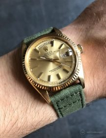Rolex Day-Date on green WB Original canvas