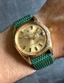 Rolex Day-Date on green WB Original perlon strap