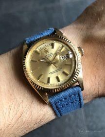 Rolex Day-Date on blue WB Original canvas