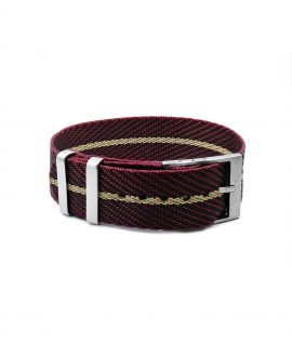 Adjustable NATO strap burgundy beige front