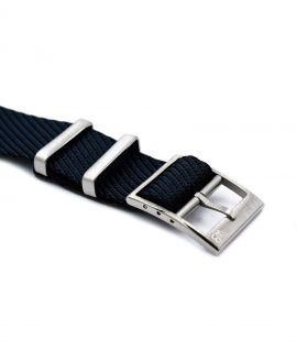 Adjustable NATO strap dark blue black buckle