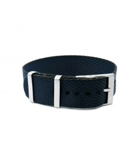 Adjustable NATO strap dark blue black front
