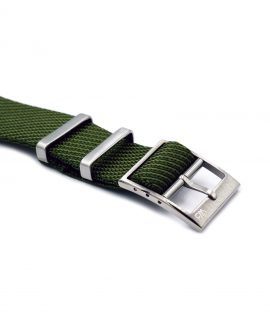 Adjustable NATO strap green buckle