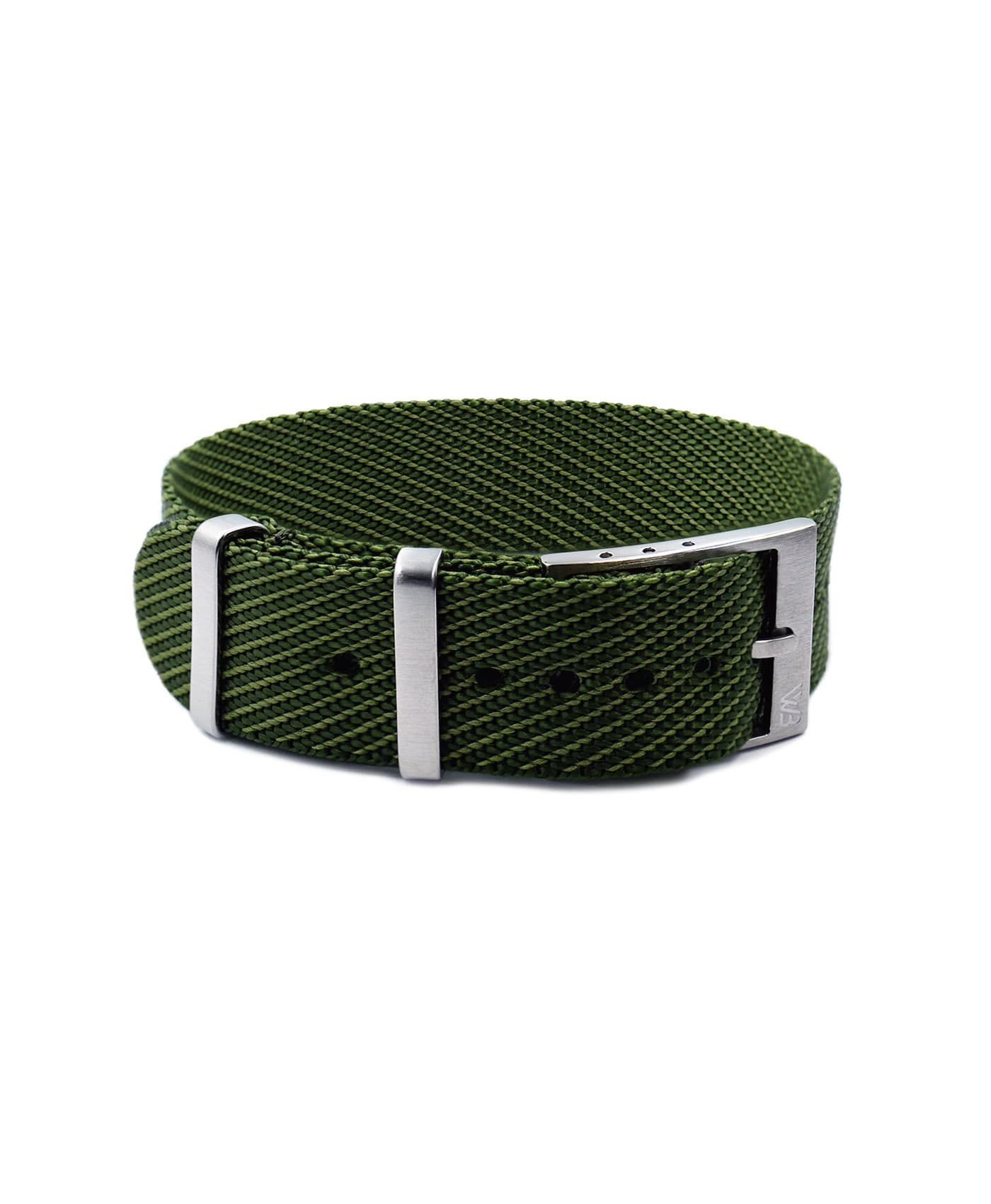 Adjustable NATO strap green front