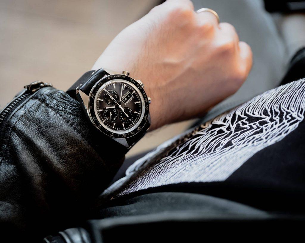 Louis Erard La Sportive Limited Edition wrist shot - Titanium, smoked neo-vintage grey dial