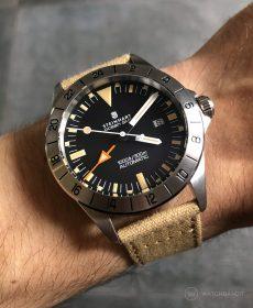 Steinhart Ocean Vintage GMT Strap guide beige canvas strap watchbandit