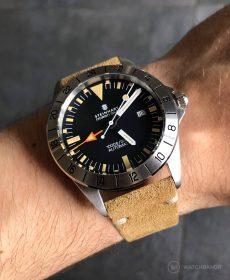 Steinhart Ocean Vintage GMT Strap guide beige suede leather