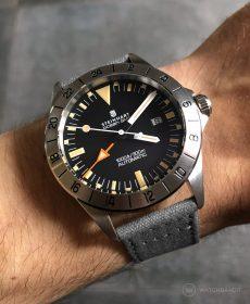 Steinhart Ocean Vintage GMT Strap guide dark grey canvas strap watchbandit