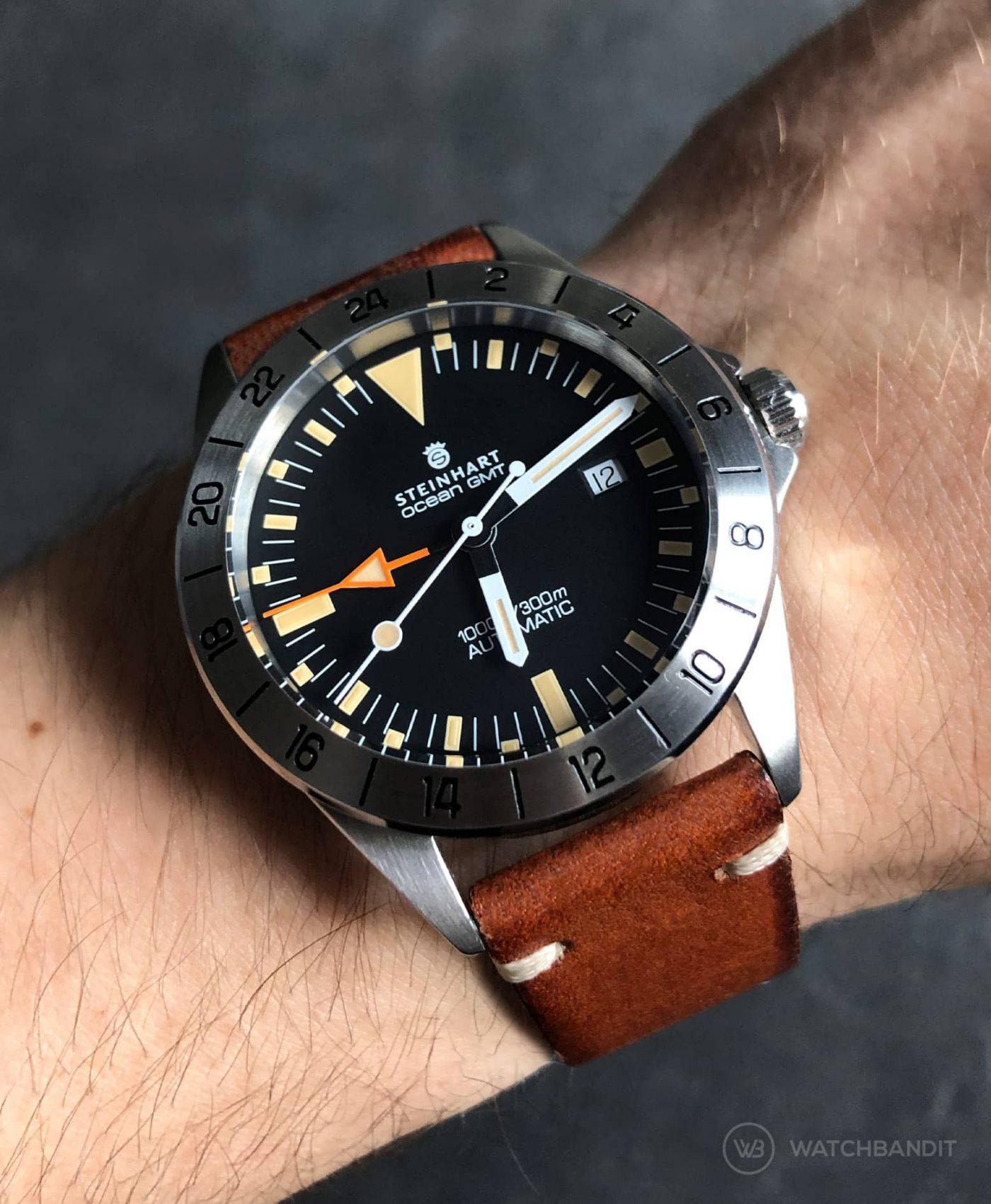 Steinhart Ocean Vintage GMT Strap guide brown vintage leather