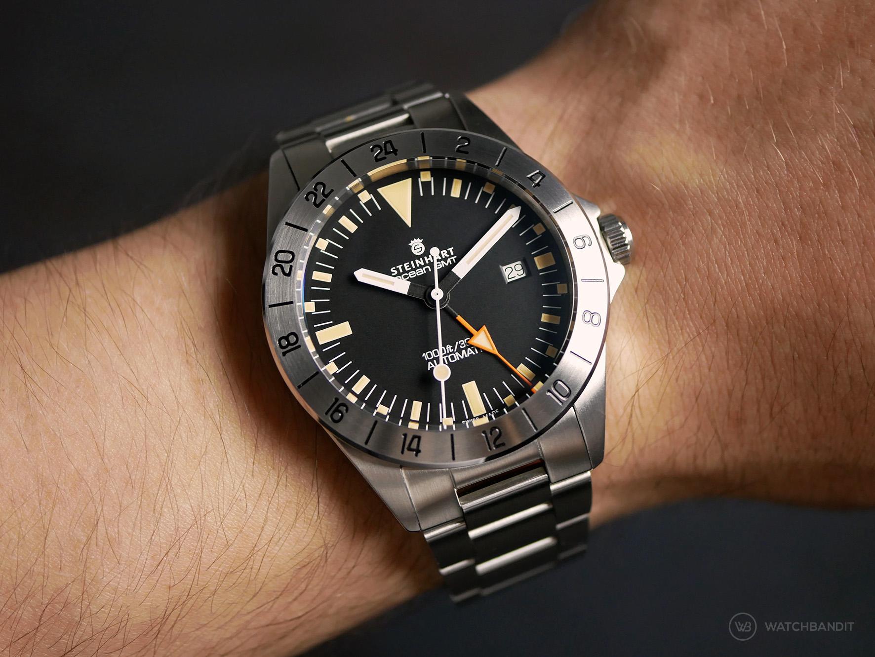 Steinhart Ocean Vintage GMT wrist shot