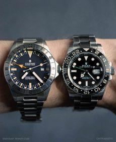 Steinhart Ocean Vintage GMT (42mm) vs. Rolex GMT 116710LN (40mm)