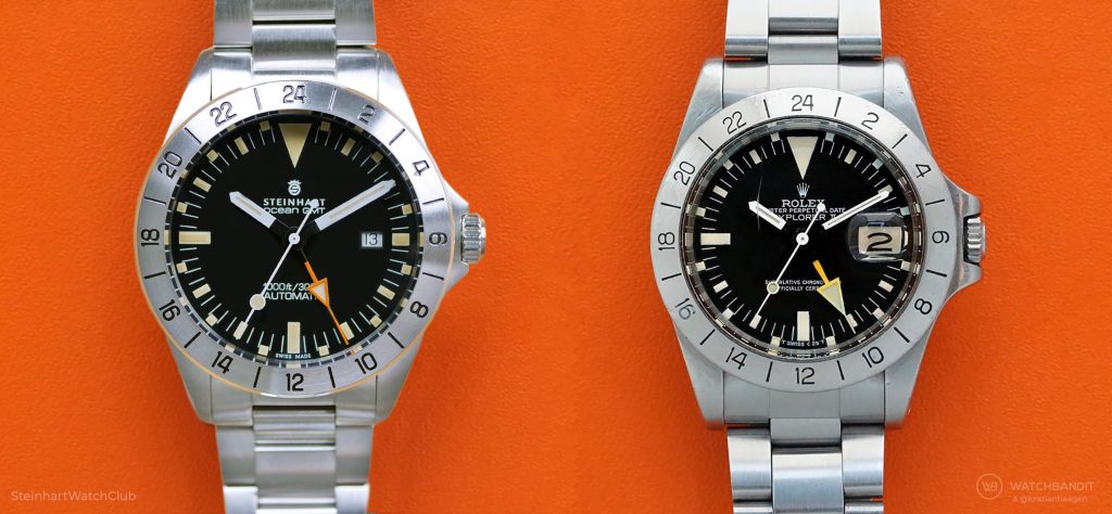 Steinhart Ocean Vintage GMT vs Rolex Explorer II 1655 comparison