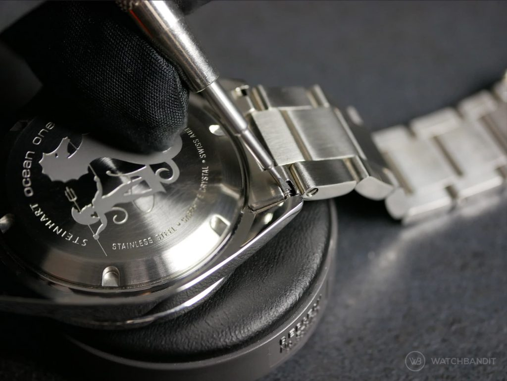 Steinhart Ocean bracelet removal strap change Bergeon tool