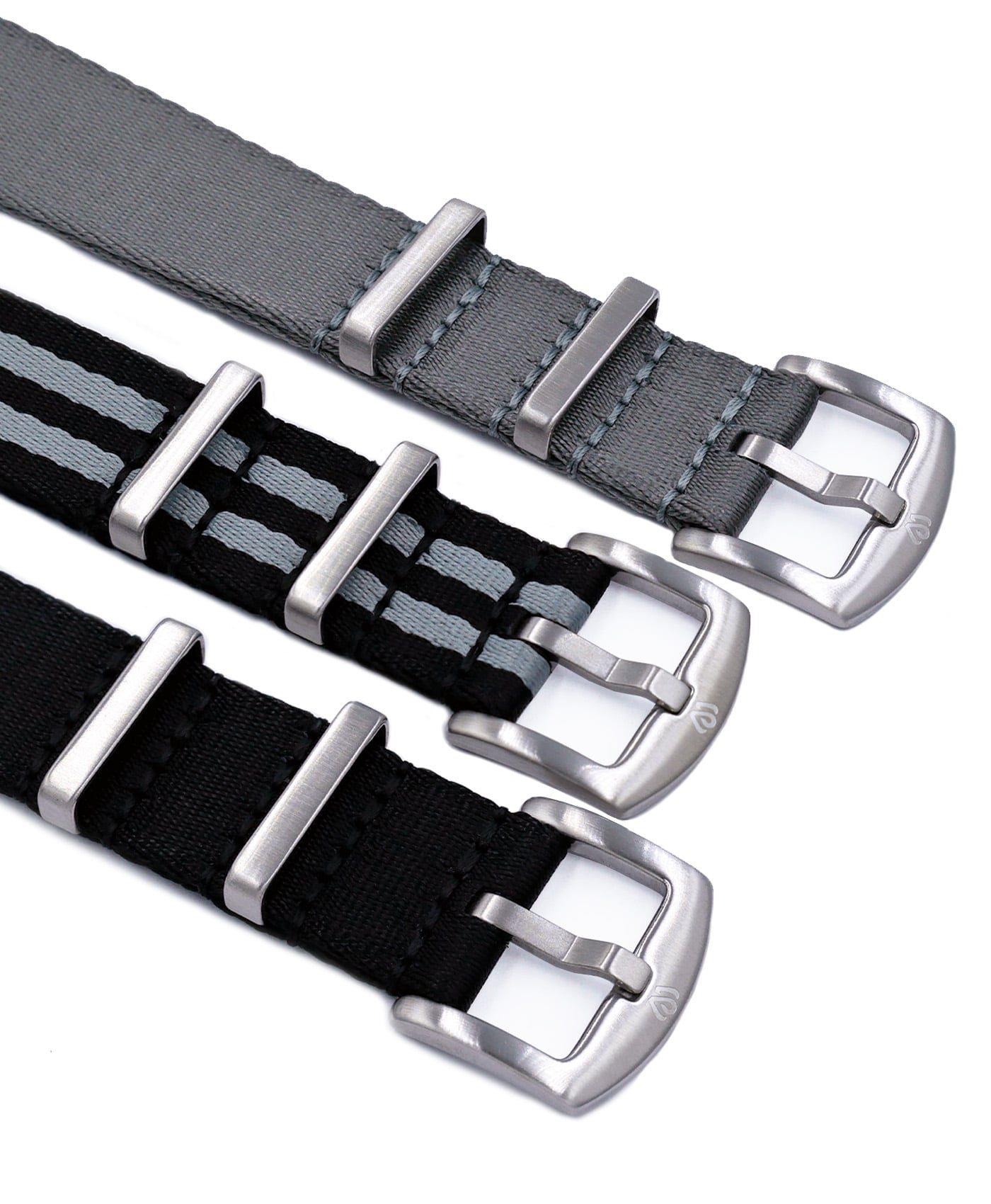 Watchbandit Wristporn NATO straps logo engraved buckle
