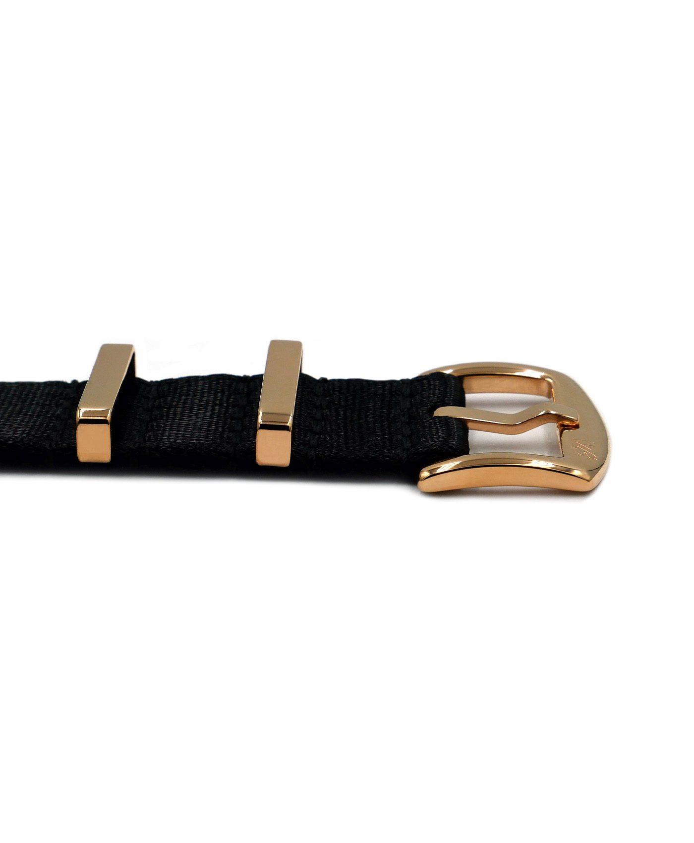 Watchbandit Premium rose gold NATO strap front