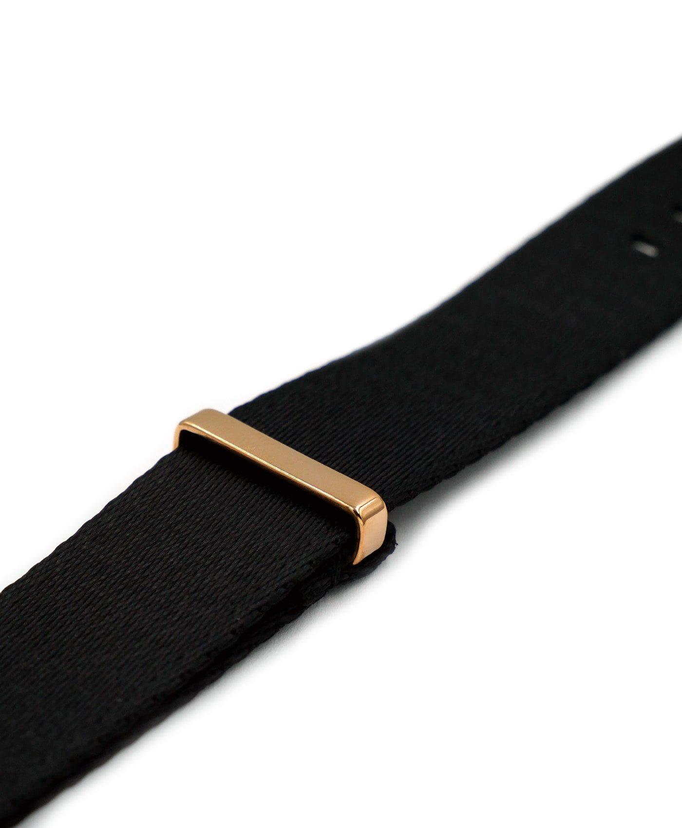 Watchbandit Premium rose gold NATO strap side keeper