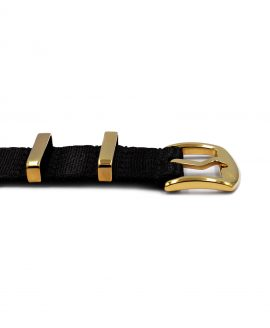 Watchbandit Premium yellow gold NATO strap buckle