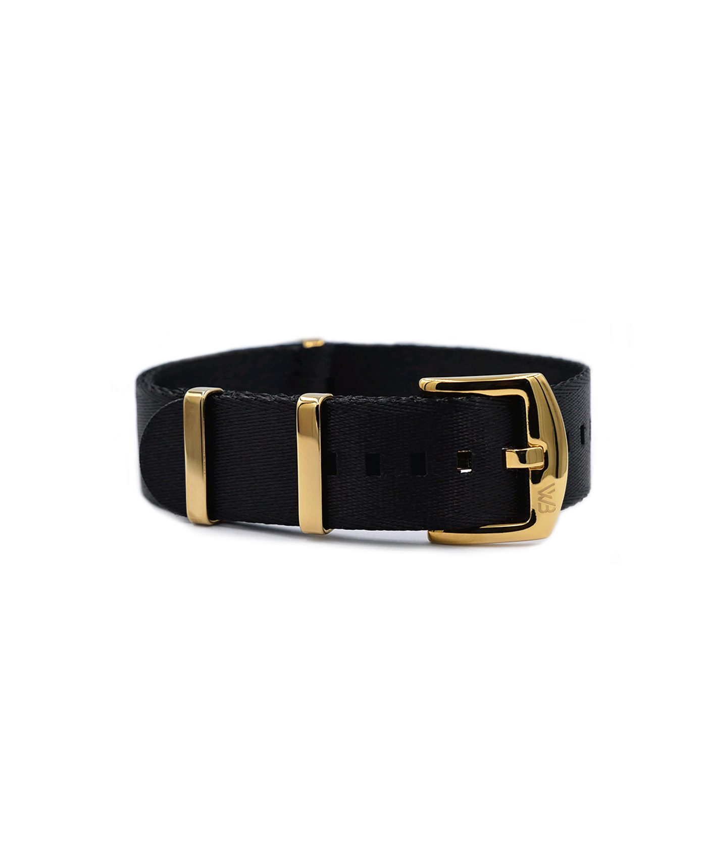 Watchbandit Premium yellow gold NATO strap front